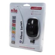 Mila ML402 Silent Serisi Kablosuz USB Nano Alıcılı Optik Mouse Siyah