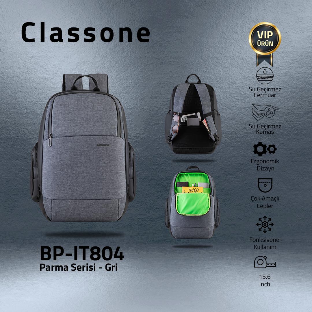 Classone BP-IT804 Parma Serisi 15.6'' Sırt Çantası-Gri