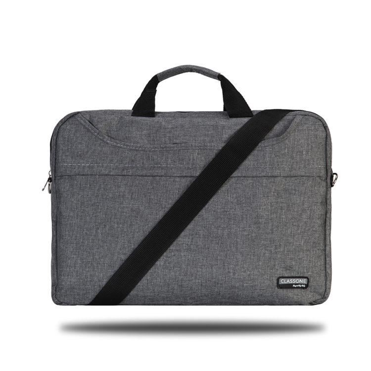 Classone TL2564 Top Loading Large Serisi 15,6 inch Notebook Çantası Gri