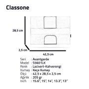 Classone Avantgarde S5601LK 15.6 inch Laptop Kılıfı -Lacivert/Kahverengi