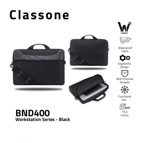Classone WorkStation1 Series BND400 15.6 '' Laptop Bag-Black