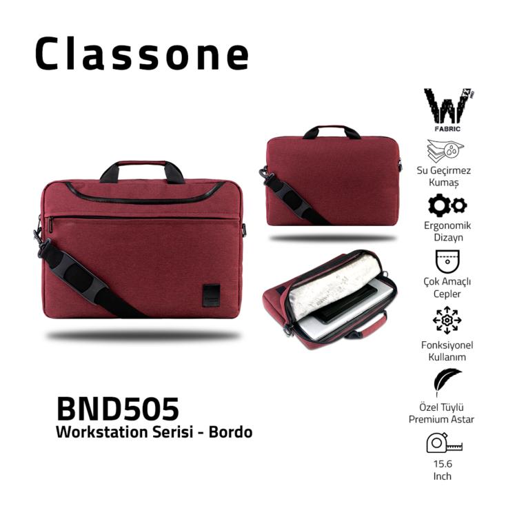"""Classone WorkStation Serisi BND505 15.6 """" Laptop Çantası-Bordo"""