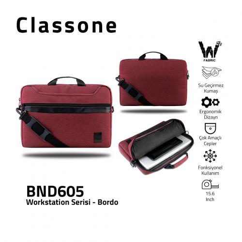 Classone WorkStation Series BND605 15.6 '' Laptop Bag-Claret Red