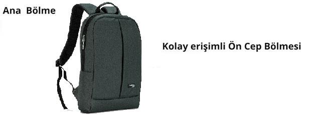 Classone BP-Z206 Zaino Serisi 15,6 inch Notebook Sırt Çantası / Füme