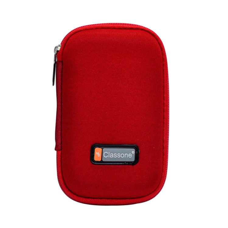 Classone HD2001 2,5'' Uyumlu Hard Disk Taşıma Çantası - Kırmızı