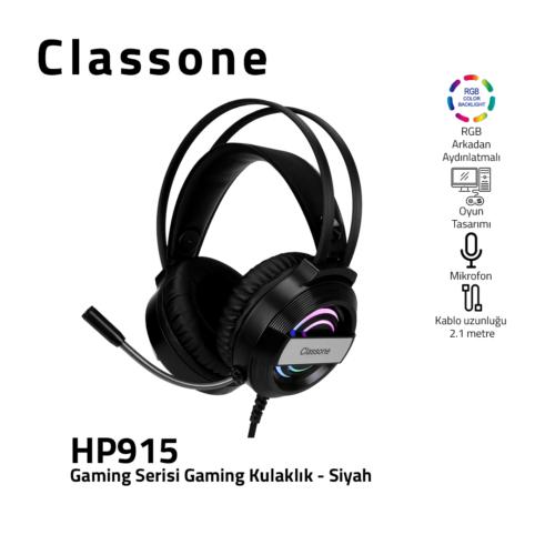 Classone HP915, RGB, 7.1 Umgeben Spielen Kopfhörer