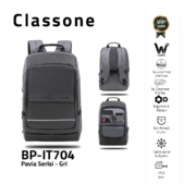 Classone BP-IT704 Pavia 15.6 ″ Laptop, Notebook Rucksack - Grau