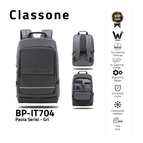 Classone BP-IT704 Pavia 15.6 ″ Laptop, Notebook Rucksack - Grau