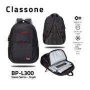 Classone BP-L300 Siena Serisi 15,6 inch Sırt Çantası - Siyah