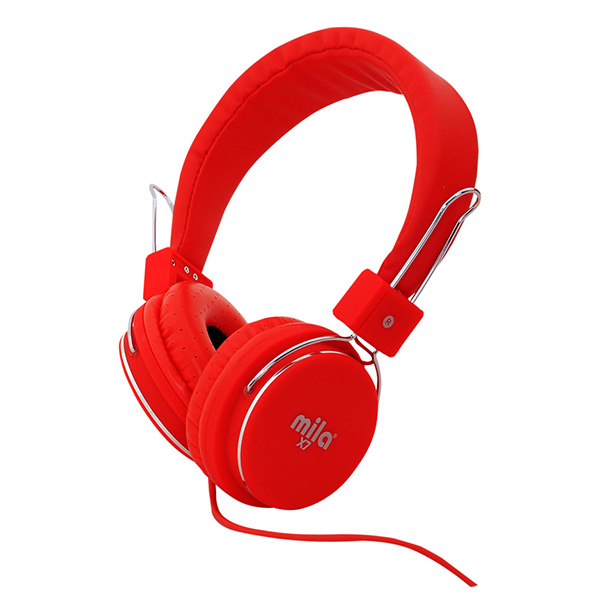 X7 Serisi Universal Telefon & Tablet & Pc Uyumlu Kulaklık Kırmızı