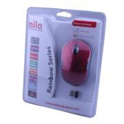 Kablosuz USB Nano Alıcılı Optik Mouse Kırmızı / Siyah