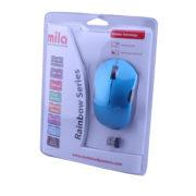 Kablosuz USB Nano Alıcılı Optik Mouse Mavi / Siyah