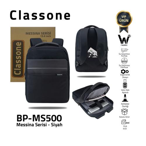 Classone Messina Serisi 15.6 inch Sırt Çantası -Siyah