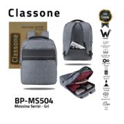 Classone Messina Serisi 15.6 inch Sırt Çantası -Gri