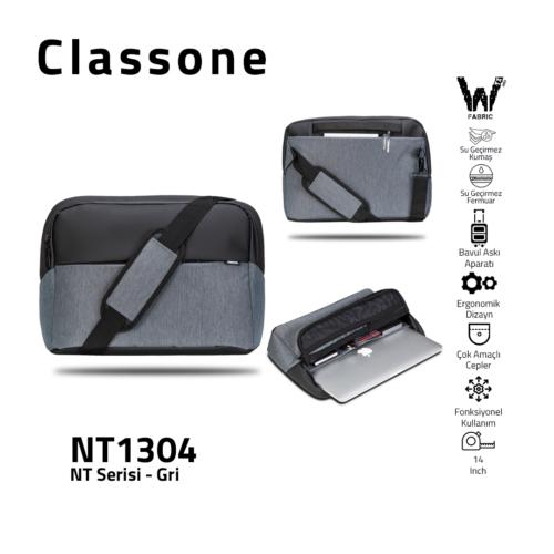 Neuer Trend-Serie NT1304 Laptoptasche / Grau
