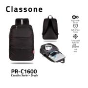 Classone PR-C1600 Casetto-Serie 15.6 Laptop-Rucksack - Schwarz