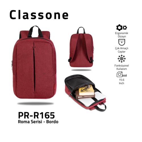 Classone PR-R165 Roma Großserien-Notebook 15,6-Zoll-Rucksack 15,6 - Weinrot