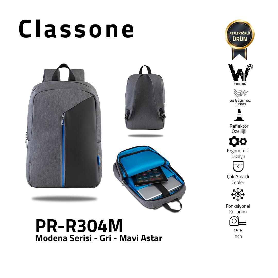 Classone Modena Serie PR-R304M 15.6 Laptop-Rucksack - Grau/Blau