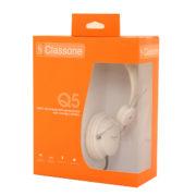 Q5 Serisi Kulaklık, Mikrofonlu Ve Kablodan Ses Kontrol - Beyaz