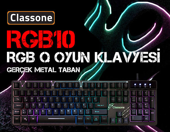 CLASSONE RGB10 RGB SERİSİ GAMING KLAVYE
