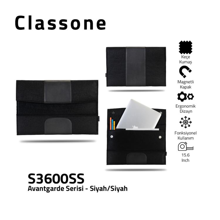 Classone Avantgarde 13-14 inch Laptop Hüllen - Schwarz-Schwarz