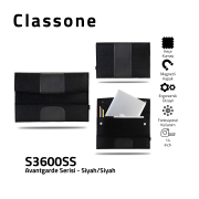 Classone Avantgarde S3600SS 13-14 inch Laptop Hüllen - Schwarz-Schwarz