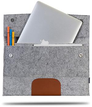 Classone S5604GK Avantgarde 15,6 inch Laptop Kılıf - Gri-Kahverengi
