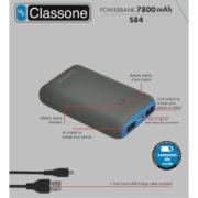 7800 mAh Taşınabilir Şarj Cihazı S84 - Mavi