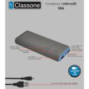 13000mAh Taşınabilir Şarj Cihazı S86 - Mavi