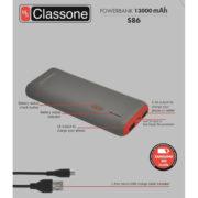 13000mAh Taşınabilir Şarj Cihazı S86 - Kırmızı