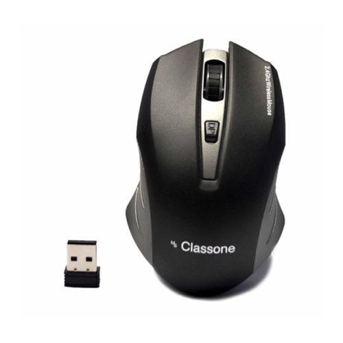 Classon T120 Silent Serisi 2.4 GHz 800/1200/1600 DPI Nano Alıcılı Kablosuz Mouse Siyah