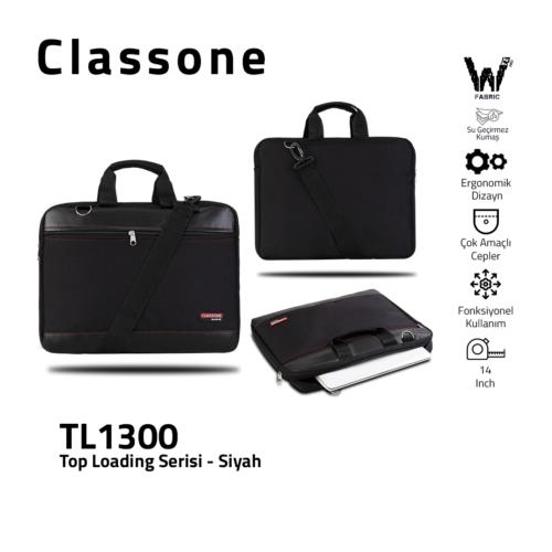 Top Eintrag Mittel-Serie Laptoptasche / Schwarz