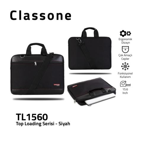 Top Eintrag Groß-Serie TL1560 Laptoptasche / Schwarz