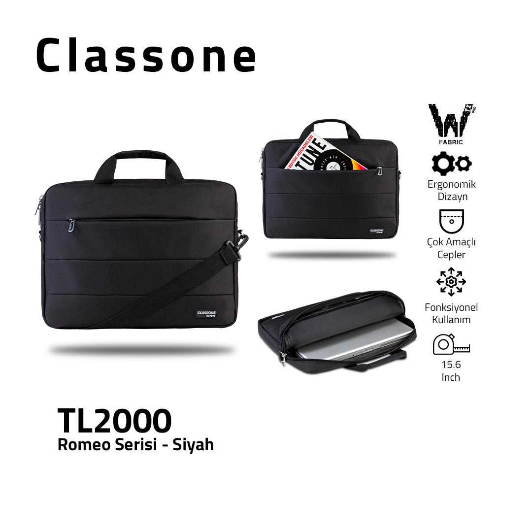 Classone Romeo Serie TL2000 15.6 Laptoptasche - Schwarz