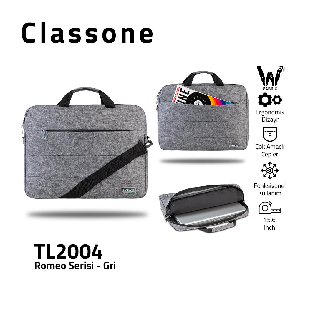 Classone Romeo Series TL2004 15.6 Laptop Bag – Grey