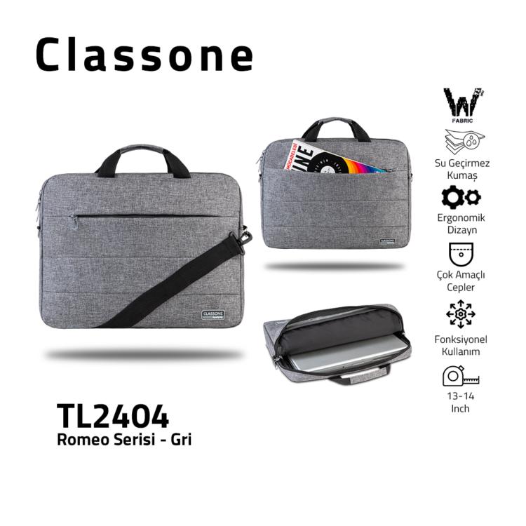 Classone Romeo Medium Series 13-14 Zoll kompatible Laptoptasche - Grau