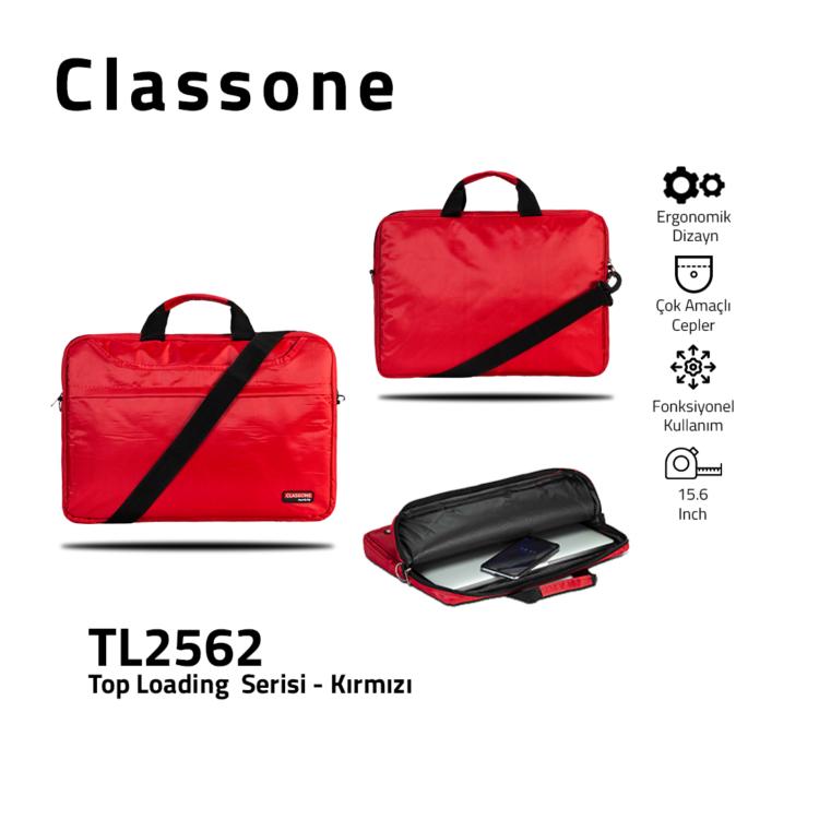 Top Eintrag Groß-Serie Laptoptasche / Rot