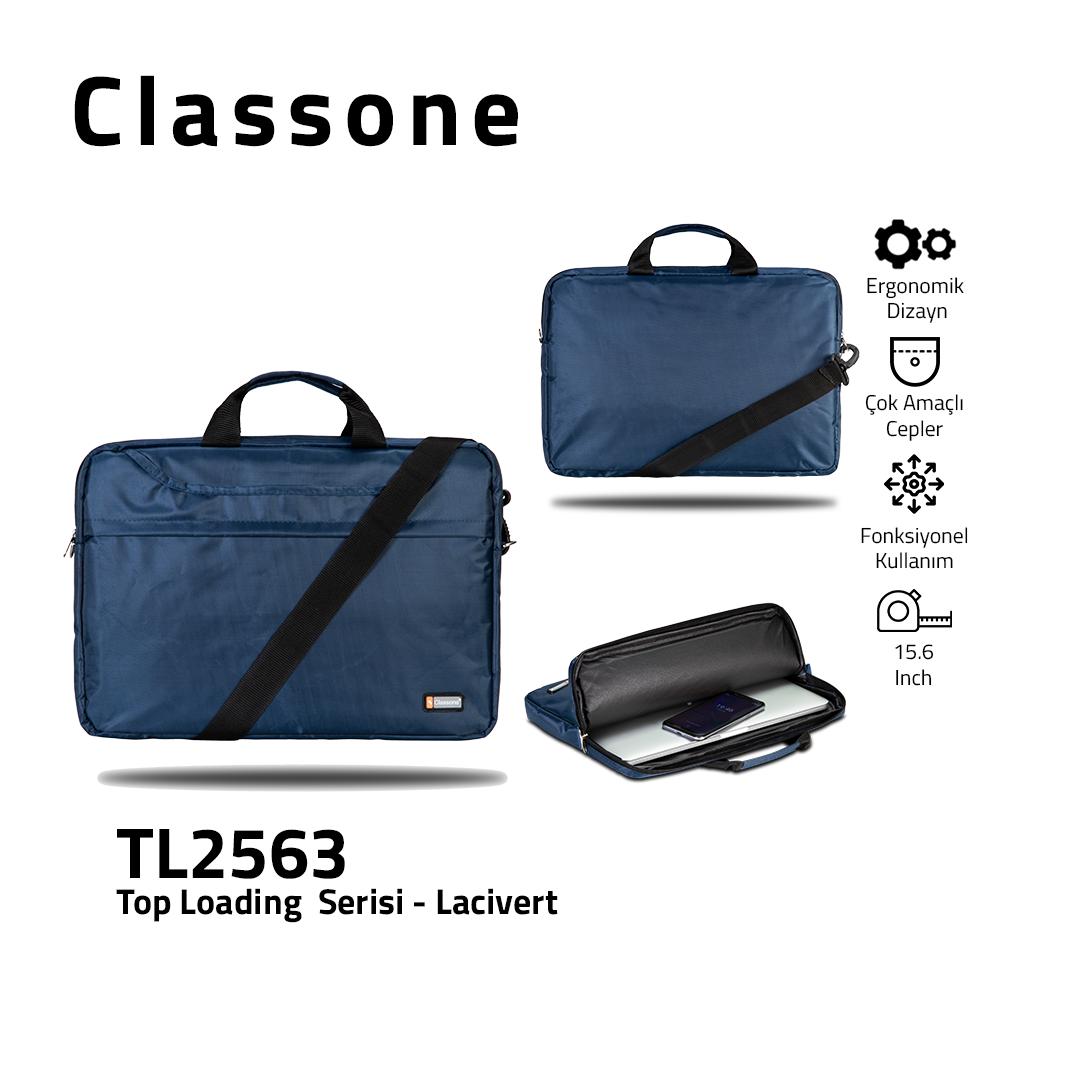 Top Eintrag Groß-Serie Laptoptasche / Marineblau