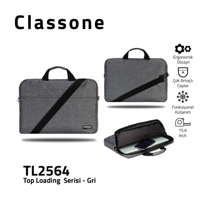 Top Eintrag Groß-Serie TL2564 Laptoptasche / Grau
