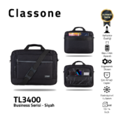 Classone Business Medium Series TL3400 13-14 Zoll kompatible Laptoptasche - Grau