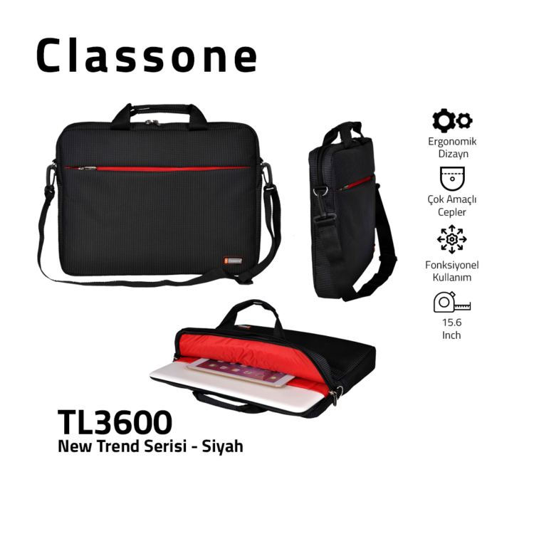 Neuer Trend-Serie Laptoptasche / Schwarz
