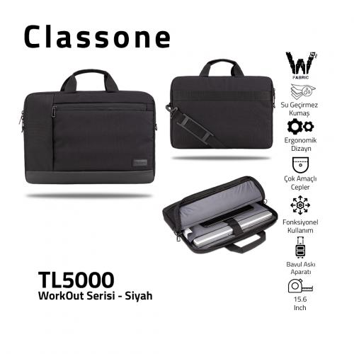 Classone WorkOut Serisi TL5000 15.6 inch Laptop , Notebook Çantası -Siyah
