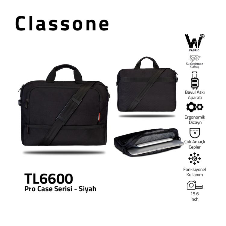 Classone TL6600 Pro Case Serie 15,6 Laptoptasche - Schwarz