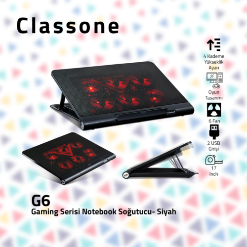 Classone G6 Gaming Notebook Soğutucu