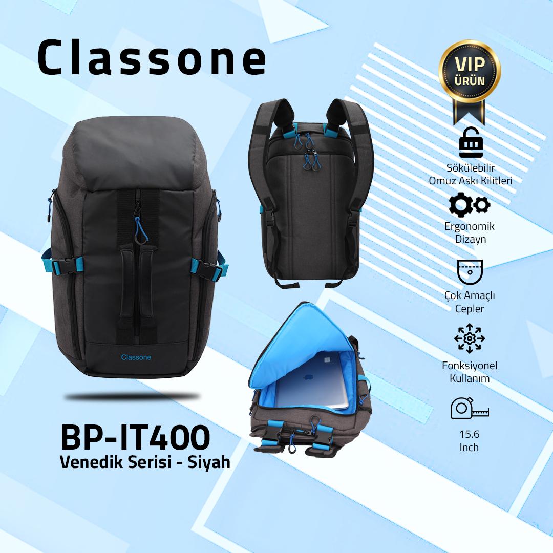 """Classone BP-IT400 Venedik Serisi Sırt Çantası 15.6"""" Uyumlu"""