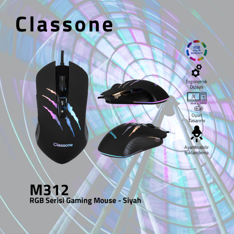 CLASSONE M312 RGB Serisi Gaming Mouse