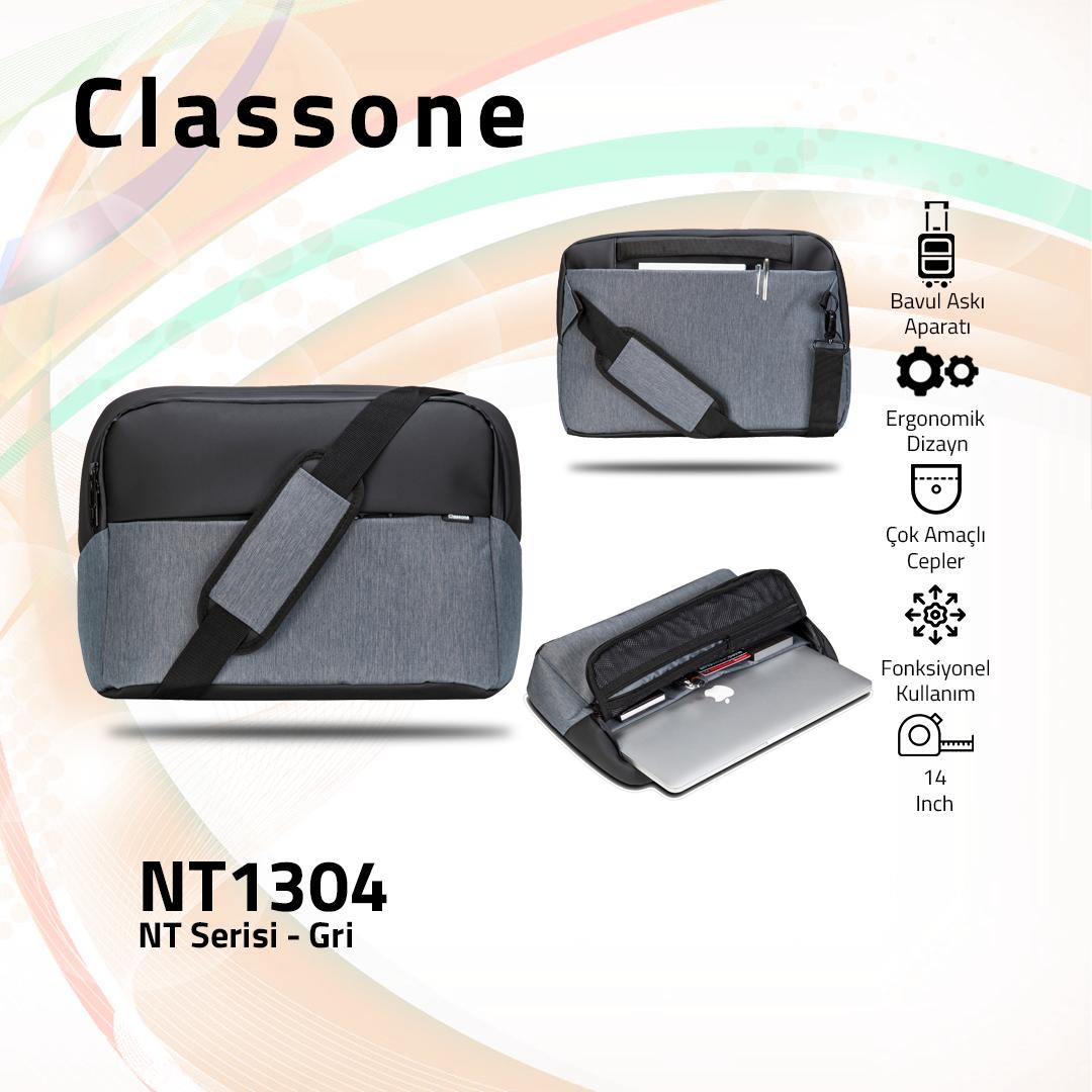 Classone NT1304 NT Serisi 14 inch Notebook Çantası / Gri
