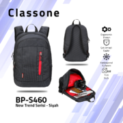 Classone BP-S460 New Trend Sport Style Lux Serisi Sırt 15,6 inch Çantası - Siyah