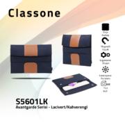 Classone Avantgarde 15.6 inch Laptop Kılıfı -Lacivert/Kahverengi