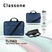 Classone TL2563 Top Loading Large Serisi 15,6 inch  Notebook Çantası Lacivert
